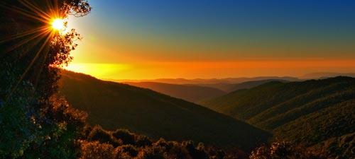 Sunset over Mt. Meron