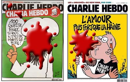 L: First cover R: Second cover - Sorry, I was having a veggie dog and uh... spilled some ketchup on it.