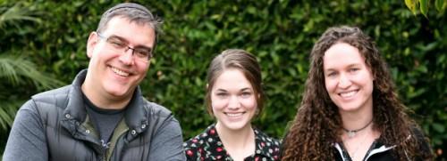 David, Grace and Megan