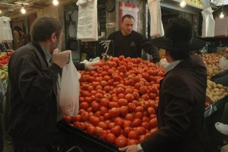 Haredi Man Shopping at the Shuk
