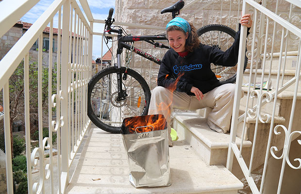 Ayo, my bike and burning chametz.