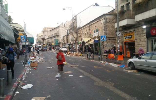 Nir Barkat Jerusalem trash strike
