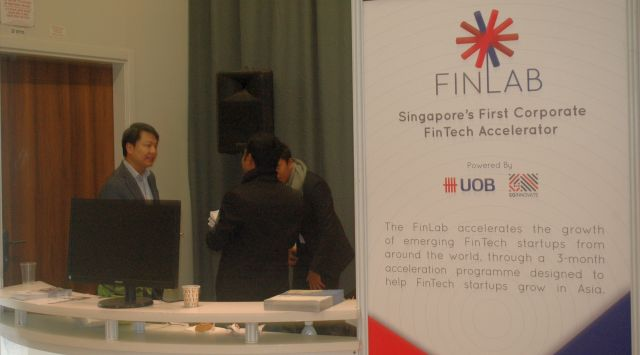 UOB FINLAB booth at the OurCrowd Summit