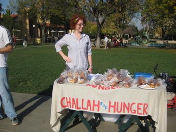Eli visiting Challah for Hunger at Stanford