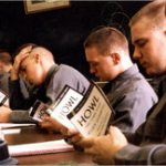 VMI cadets reading HOWL which was critical of the military
