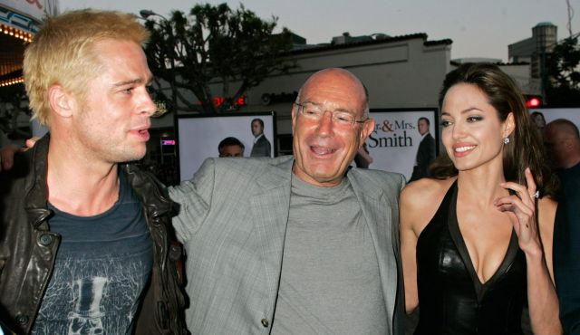 Milchan the Celebrity with Brad Pitt and Angelina Jolie