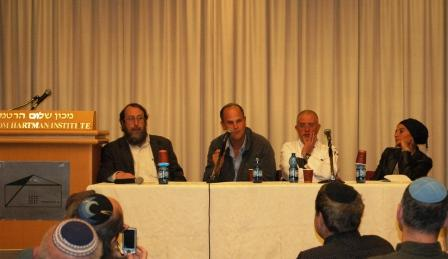 The Panel Addresses the Crowd