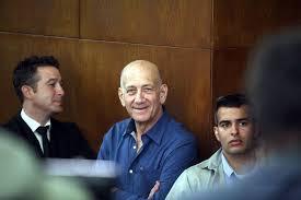 Ehud Olmert Sits in Court