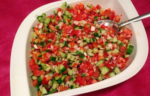 Nothing like a fresh Israeli Salad