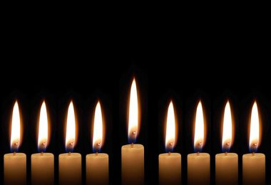 eight days of hanukkah candles