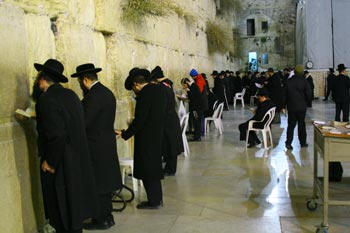 The kotel afterwards, because I can