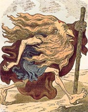 Wandering Jew, Woodcut, Doré - 1852